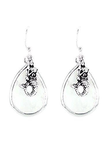 Studio Faceted Glass - Mermaid Faceted Sea Glass Dangle Earrings