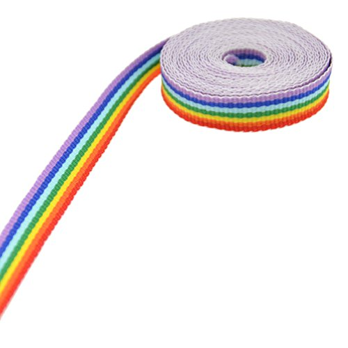 Rainbow Stripe Ribbon DIY Craft Sewing Jewelry Making Accessories 3M -