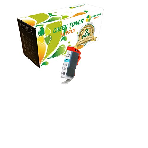 Green Toner SupplyTM Compatible Ink Cartridge Replacement for Canon BCI-6 (Photo Cyan)