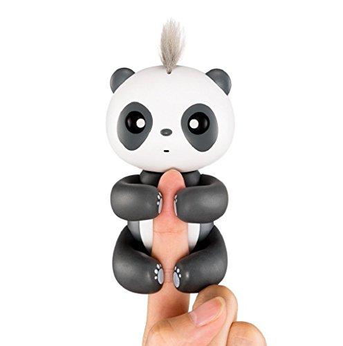 インテリジェントなインタラクティブな指ベビーパンダ、スマートな電子インタラクティブ指のおもちゃ赤ちゃんと2017ベストギフト(黒)
