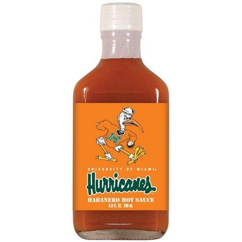 マイアミハリケーンHot Sauce 6.6oz Habeneroフラスコ B001J5ZLMW