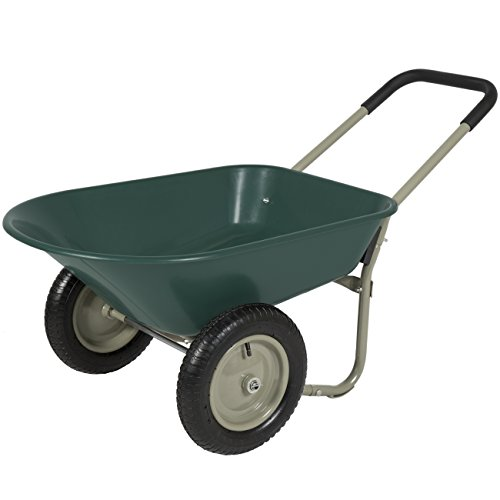 Best Choice Products Dual-Wheel Home Wheelbarrow...