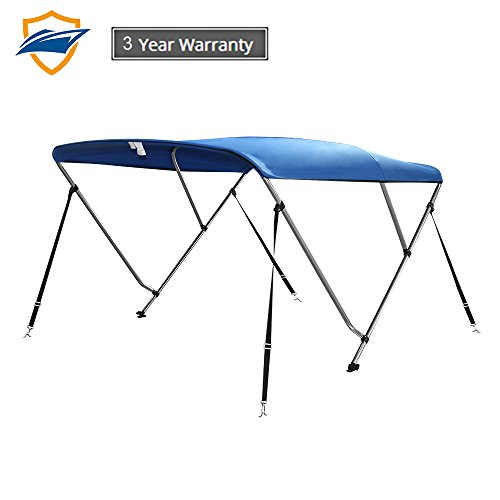 ops for Boats,Boat Canopy Cover Top 4 Straps for Front and Rear Includes with Mounting Hardware (Pacific Blue, 3 Bow 6' Lx 61