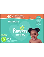 Diapers Size 6 - Pampers Baby Dry Disposable Baby Diapers, 144 Count, Ultra Value Pack (Packaging May Vary)