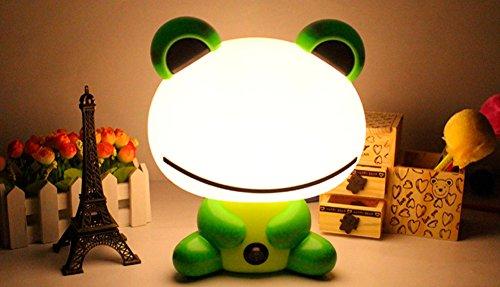 Très Chic Mailanda Kreative reizende Cartoon Tieren Lampen Kinder Deko Lights LED Tischleuchte Lampe Nachttischlampe für Kinderzimmer Xmas Geschenken (Frosch)