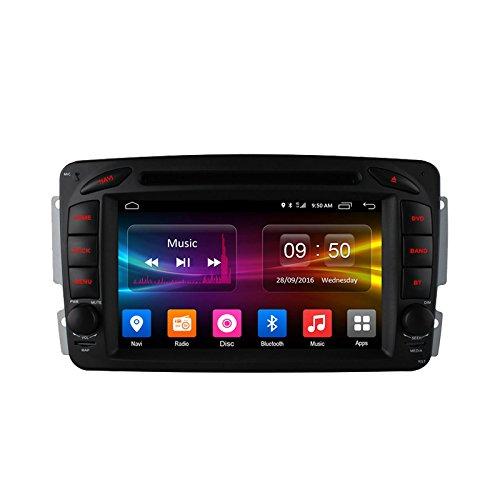 FEELDO 7'' Android 6.0 (64bit) DDR3 2G/16G/4G Quad Core Car DVD GPS Radio Head Unit For Mercedes Benz CLK W209(1998~2004) (F4) by FEELDO