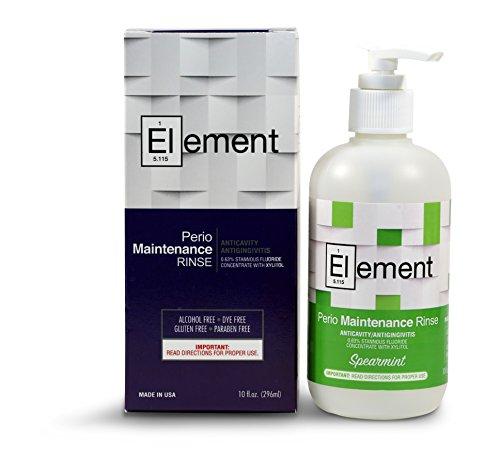 Element 10 Fl. Oz. 0.63% Stannous Fluoride Antimicrobial Perio Rinse Mouthwash - Spearmint Flavor