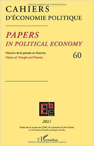 Lire en ligne Cahiers d'économie politique 60 pdf