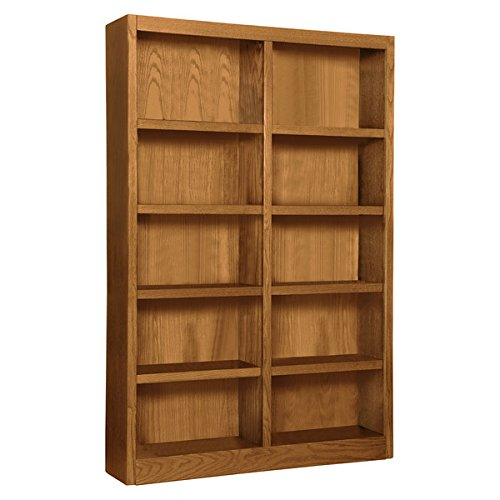 Wooden Bookshelves Double Wide 72