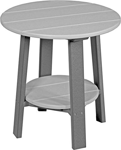 (Furniture Barn USA Outdoor Deluxe End Table - Dove Gray and Slate Poly Lumber - Recycled Plastic)
