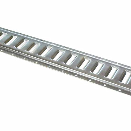 Ten 2' E Track Tie-Down Rail, Hot-Dipped Galvanized Steel ETrack TieDowns | 2' Horizontal E-Tracks, Pack of 10 Bolt-On Tie Down Rails for Cargo on Pickups, Trucks, Trailers, Vans