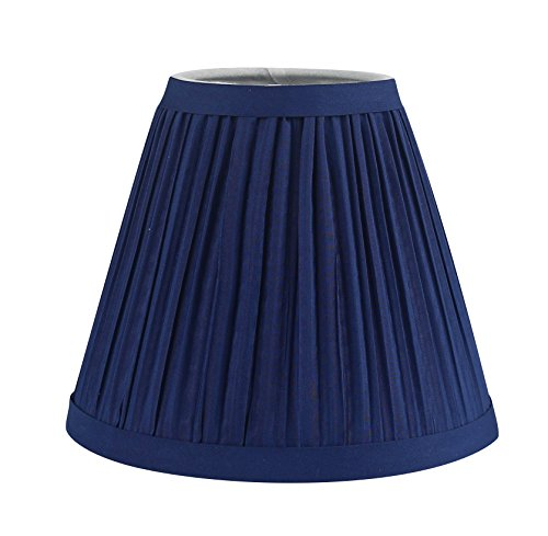 - Urbanest Mushroom Pleated Chandelier Lamp Shade, 3-inch by 5-inch by 4.5-inch, Navy Blue