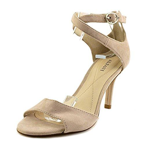 Leather Open Toe Casual Ankle Strap, Dusty Rose, Size 5.0 (Alfani Open Toe Heels)