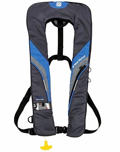 West Marine Inflatable (WEST MARINE Coastal Automatic Inflatable Life Vest—Royal Blue/Dark Gray Model # 14832075)