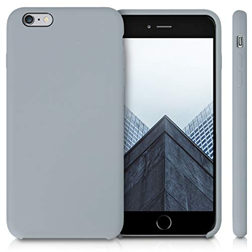 kwmobile TPU Silicone Case Compatible with Apple iPhone 6 Plus / 6S Plus - Soft Flexible Rubber Protective Cover - Grey
