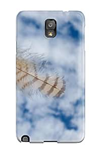 New Premium Flip Case Cover Falling Owl Feather Skin Case For Galaxy Note 3