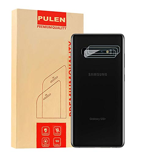 [3-Pack] PULEN for Samsung Galaxy S10/S10 Plus Camera Lens Protector,HD Clear Scratch Resistance Anti-Bubble 9H Tempered Glass Camera Lens Film for Samsung Galaxy S10/S10 Plus