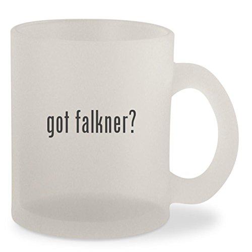 got falkner? - Frosted 10oz Glass Coffee Cup Mug