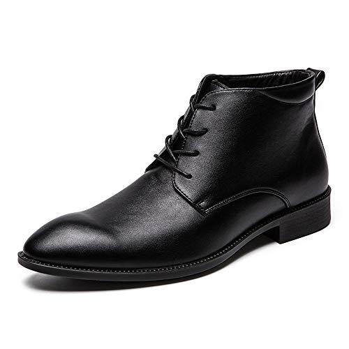 Hommes Boot Casual Chenjuan Lace Chaussures Mode À Pour Lightweight Bottines Noir Haut Business La Up wqn170X1