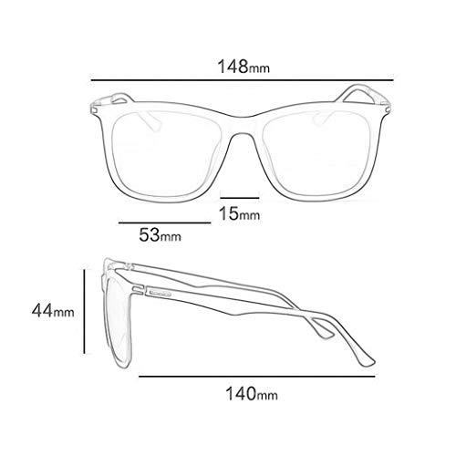 Conducción Hombres UV para Retro Gafas de sol Aviador Marco polarizadas A Grande Hipsters Running Vogue con de xwxZ4CqTP