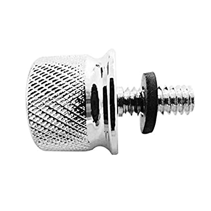 1//4-20 Universal Thread Alloy Rear Fender Seat Screw Bolt Nut Knob Tab Cover Kit For Harley Sportster Dyna Softail Chopper Bobber Custom Cafer V-ROD Touring Glide 1996-2018 Iron Cross Silver