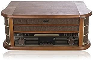 Dual NR 50 Dab - Tocadiscos (Tocadiscos de tracción por Correa, Automático, Negro, Marrón, 33,45,78 RPM, Digital, Externo)
