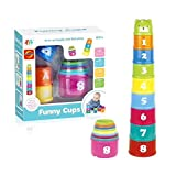 Itari Nesting Cups Baby Building Set Letters and Numbers Colorful Cups