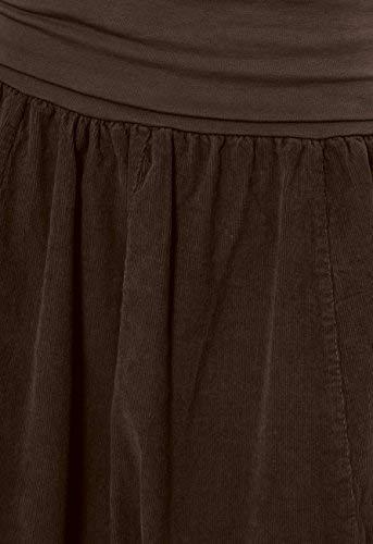 Cintura Plana Oscuro Falda Marrón Midi De Ro004 Mujer Ideal Invierno Para Caspar Elástica Con nBUa8gW