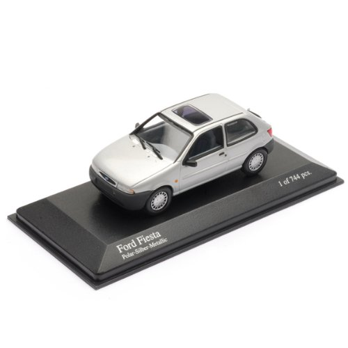 Minichamps 1/43 Scale Model Car 430 085004 - 1995 Ford Fiesta - Silver B002YP0V44