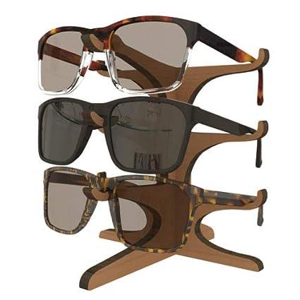 Amazon.com: Soporte de 3 marcos para gafas de sol de madera ...