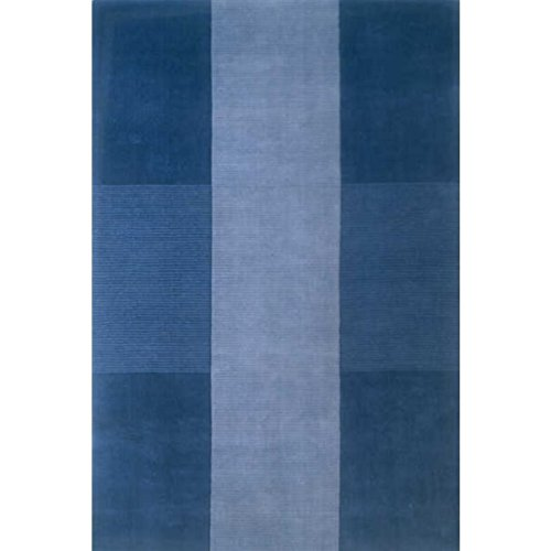 Momeni Rugs Metro Collection, 100% Wool Hand Loomed Contemporary Area Rug, 5' x 8', Light Blue ()