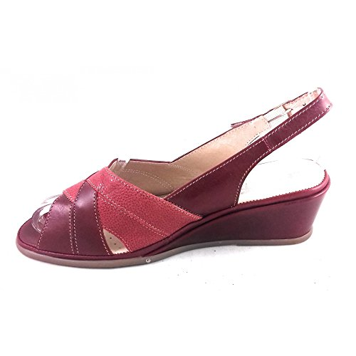 pour Red Suave Femme Rouge Sandales p8vwqR