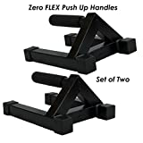 Heavy Duty Push Up Stands - Zero Flex Pushup bars perfect for home and commercial gym use (Set of 2 handles)