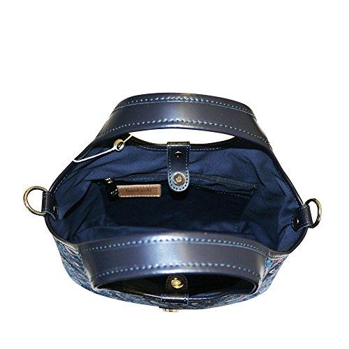 Bonfanti Liberty fraise voleur grab sac fourre-tout Sac à main épaule - Bleu