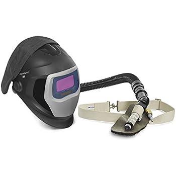 3M Speedglas Fresh-Air III Supplied Air System with V-100 Vortex Air-Cooling valve and Speedglas Welding Helmet 9100-Air, 25-5702-10SW with SideWindows and Auto-Darkening Filter 9100V, Shades 5, 8-13