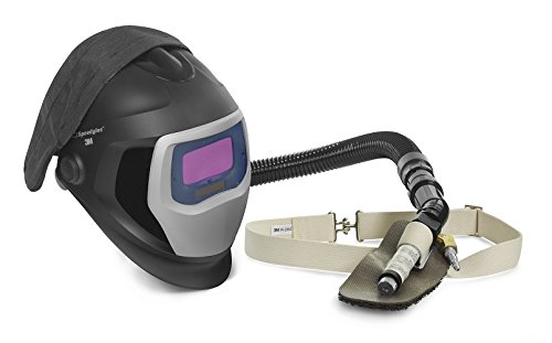 3M Speedglas Fresh-Air III Supplied Air System with V-100 Vortex Air-Cooling valve and Speedglas Welding Helmet 9100-Air, 25-5702-10SW with SideWindows and Auto-Darkening Filter 9100V, Shades 5, 8-13 by 3M Personal Protective Equipment
