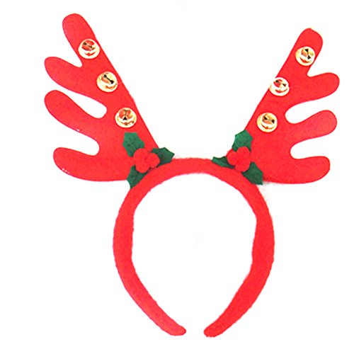 Mrs Costume Diy Claus (Christmas Reindeer Antlers Headband Dults & Kids Head Band Christmas Reindeer Hats Reindeers Deer Hairband Christmas Ornaments Decorations Cosplay Costume Easter Day)