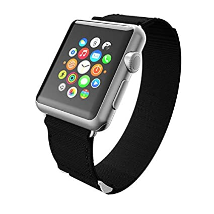 Incipio Smartwatch Replacement Band for Apple Watch 42mm - Black/Black Stitching