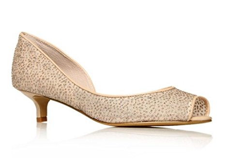 Nine West , Damen Pumps Nude Glitter Size UK 3½