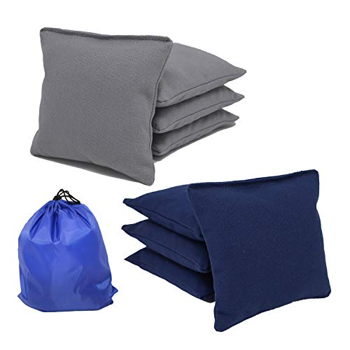 Free Donkey Sports All-Weather Cornhole Bags (Set of 8) (Choose Your Colors) (Navy/Gray)