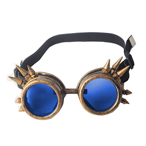WELDING CYBER GOGGLES GOTH STEAMPUNK COSPLAY GOTH ANTIQUE VICTORIAN WITH SPIKES FLORATA