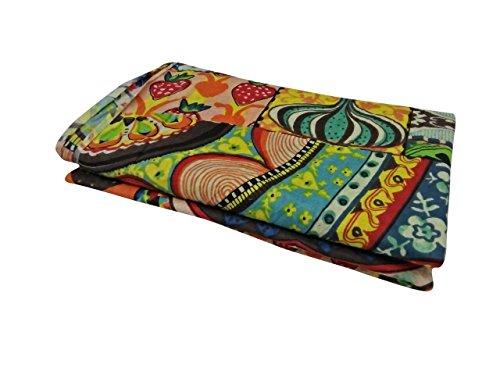 V Vedant Designs Hand Block Printed Indian Natural Cotton Jaipuri Print Sanganeri Kurti Print Fabric by 5 Yard