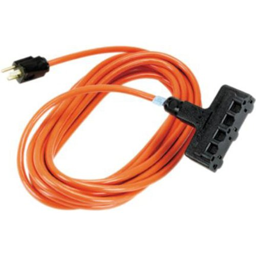 Black Box 100' OR Heavy-Duty Indoor/Outdoor UTIL Cord Triple-Outlet 14/3 GND by Black Box