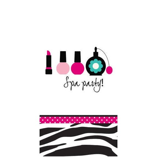 Pink Zebra Boutique Spa Party Swankie Hankies- 12 per case