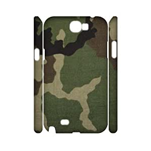 Camouflage Pattern 3D-Printed ZLB560853 Custom 3D Phone Case for Samsung Galaxy Note 2 N7100