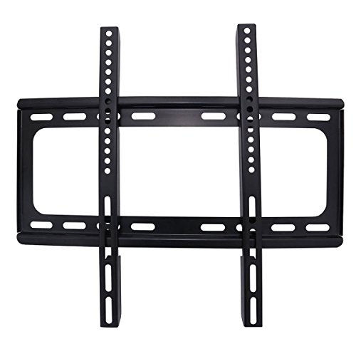 "AuraBeam Ultra Slim TV Wall Mount Fits 32""- 60"" TVs LED/LCD/Flat Screen Monitor (Up to 110 lbs. / VESA 400400MM / 0 Tilt / 4.5cm Distance to Wall)"
