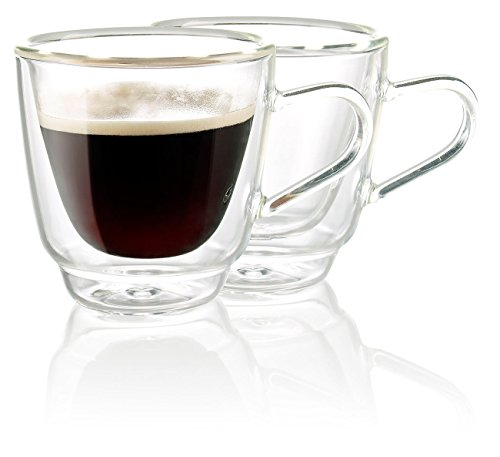 Cucina di Modena Doppelwandige Espresso-Tassen aus Glas, 2er-Set