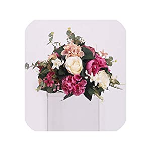 New DIY Wedding Table centrepieces Artificial Flower Ball Backdrop Wedding Decor Road Lead Wall Hotel Shop Party Silk Flowers,05 2