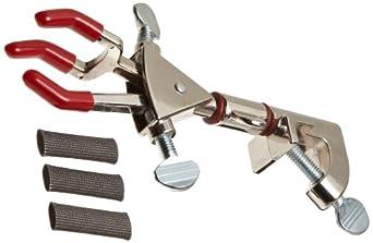 Talboys 916066 Nickel-Plated Zinc 3-Prong Dual Adjustment Swivel Clamp, 178mm Length, 69mm Grip Size, Medium