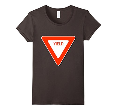 Womens Yield Sign Simple Easy Halloween Costume T-Shirt Large (Road Sign Halloween Costumes)